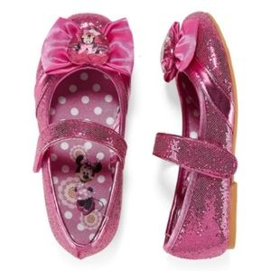 Disney Collection Pink Glitter Minnie Mouse Flats